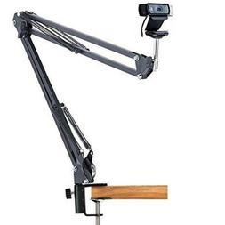 Large Cantilever Bracket Desk Clamp Mount Webcam Microphone