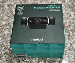 New Logitech C922 Pro Stream Webcam Full 1080p 30fps HD STRE
