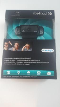 New Logitech HD Pro Webcam C920 Widescreen Video Calling & R