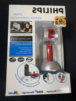 New Phillips Webcam SPC 600NC Gaming Webcam With USB Device