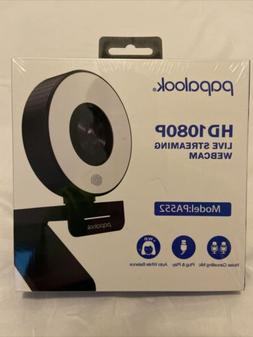 Papalook Pa552 Live Streaming Gaming Webcam With Ring Light,