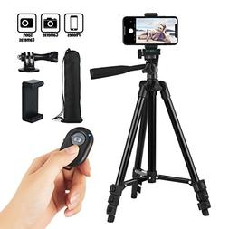Hitch Phone Tripod,Gopro Tripod 42 Inch 106cm Aluminum Light