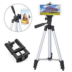 50 Inch Tripod for iPhone, Lightweight Aluminum Tripod for P
