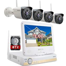 ONWOTE All-in-one 1080P HD NVR Wireless Home Security Camera
