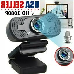 Real 1080P Full HD USB Webcam Web Camera with Microphone For