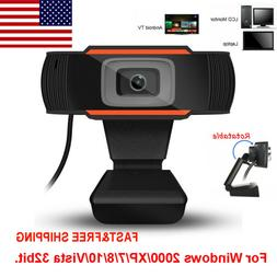 Rotatable 2.0 HD Webcam PC Digital USB Camera Video Recordin