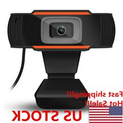 Rotatable 2.0 HD Webcam PC Laptop USB Camera Video Recording