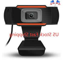 Rotatable USB 2.0 HD Webcam PC Laptop Camera Video Recording
