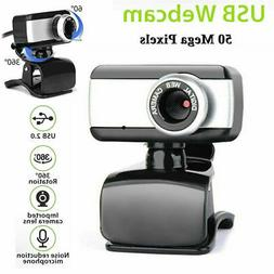 Rotatable USB2.0 HD Webcam Camera With Microphone For PC Lap