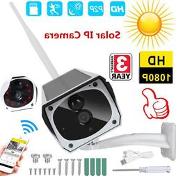 Solar Security Outdoor Camera 1080P 2MP Wireless Wifi Home N