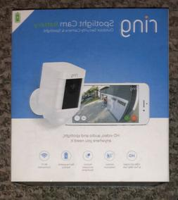 Ring Spotlight Cam Battery-Powered Security Camera - White