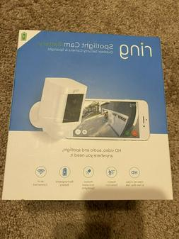Ring Spotlight Cam Battery-Powered Security Camera White New