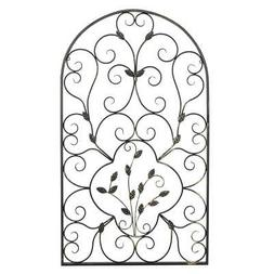 Spanish Arched Wrought Iron Ornament Wall Art Vintage Indoor