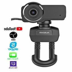 Ausdom Full HD 1080P Streaming Webcam for OBS Live, Video Ca