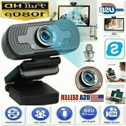 USA 1080P Full HD USB Webcam Web Camera with Microphone for