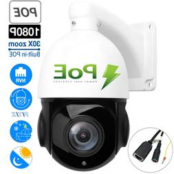 USA Outdoor Wired 1080P 2MP PTZ Webcam IP IR Camera Night Vi