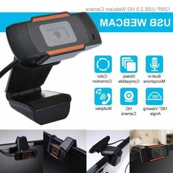 USB 1080P HD Webcam Camera Anti-noise Mic For PC Computer La