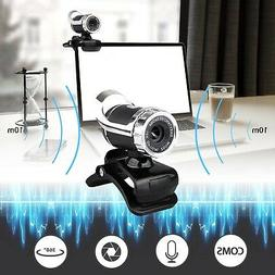 USB 2.0 1080P HD WebCam Web Camera Video with Mic 360° for