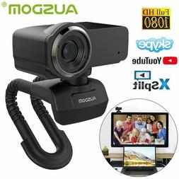 AUSDOM USB 2.0 HD 1080P Web Cam Camera with Microphone for M
