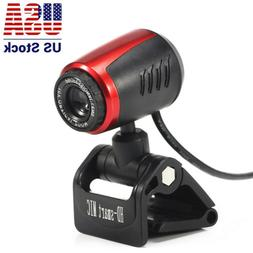 USB 2.0 HD 16MP Webcam Camera With Microphone Mic LED For PC
