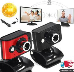 USB 2.0 HD Auto Focus Webcam Camera With Microphone Mic LED