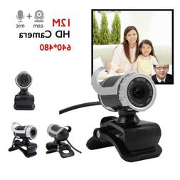 USB 2.0 HD Webcam Camera Video with Mic 360°for Desktop Com