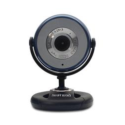 Gear Head USB 2.0 1.3 MP Webcam for PC, Blue with Black Acce