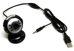 USB 50.0 M 6 LED Webcam Camera Web Cam With Built in Mic for