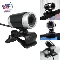 USB Computer Desktop Video Cam PC Laptop HD Webcam Camera wi
