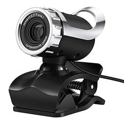 Cimkiz USB Webcam, HD with Built-in MIC PC Camera Plug and P