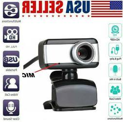 USB Webcam Camera with mic for Acer Asus Apple Lenovo comput