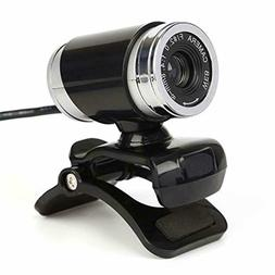 USB Webcam For Skype Manual Focus Built In Mic PC Camera For