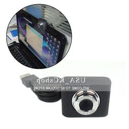 New USB Webcam Camera Web Cam With Built-in Mic Retractable