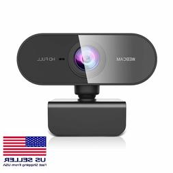 Webcam Full HD 1080P USB Web Camera Built-in Microphone PC M