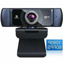 Webcam 1080P 60fps with Microphone for Streaming, Vitade 682