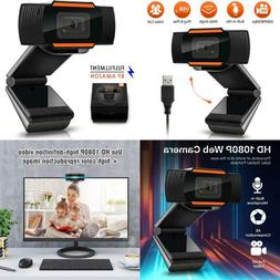 Webcam 1080P Full Hd Auto Focus Web Camera With Microphone W