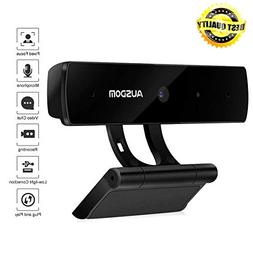 Full HD Webcam 1080P,Ausdom Widescreen Web Camera Built-in M