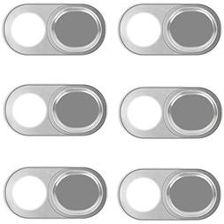 Webcam Cover Slide Sticker 6 Pack Fit Macbook Pro Iphone and