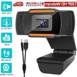 Webcam HD 1280 x 720 With Microphone Auto Focusing PC Camera