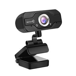 720P HD Webcam, EIVOTOR USB Mini Computer Camera with Built-