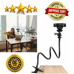 Webcam Stand Flexible Desk Table Sideboard Mount Clamp Goose