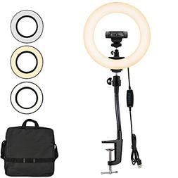 Webcam Streaming Light, Ring Light with Stand for Logitech W