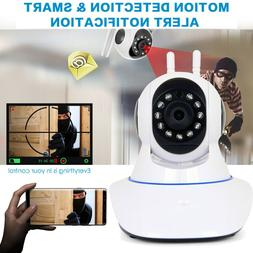 WiFi Wireless Home Security Camera 1080P Pan Tilt Night Visi