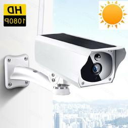 Wireless 1080P Solar Powered Outdoor WIFI IP HD Camera Water