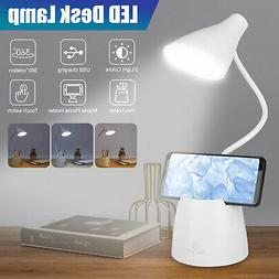 LED Desk Lamp Reading Light Table Dimmable Flexible Recharge